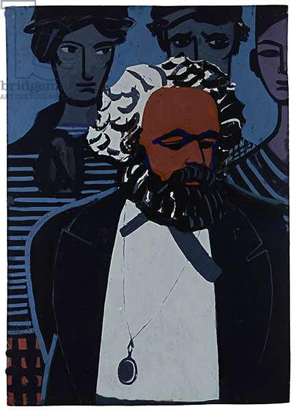 Karl Marx, 1972 (gouache on paper)
