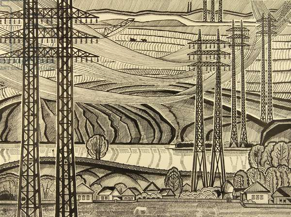 Cables, 1969 (Indian ink on paper)