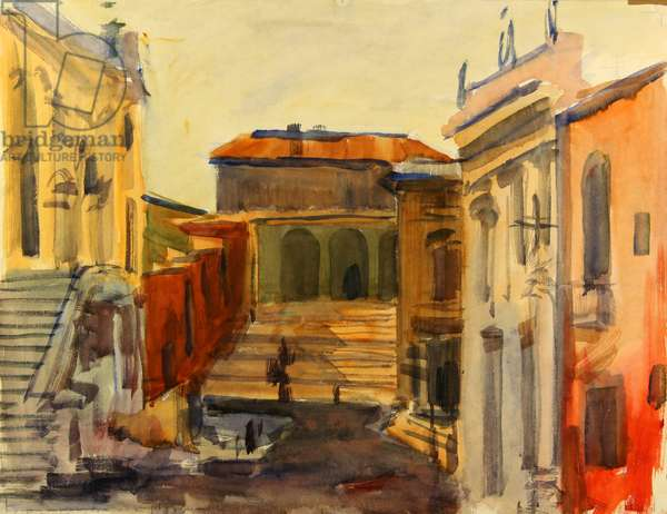 A Roman Corner, 1965 (w/c on paper)