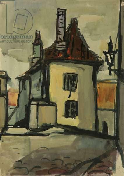 Old Riga, c.1960 (tempera on paper)