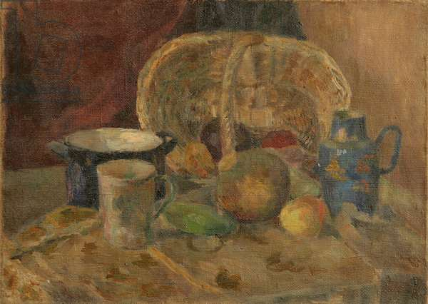 Still-Life with Basket, Mugs and Fruit, 1925 (oil on canvas)
