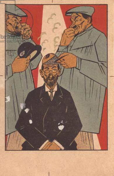 Cleaning The Brains of Capitalist Stink, 1920s (colour litho)