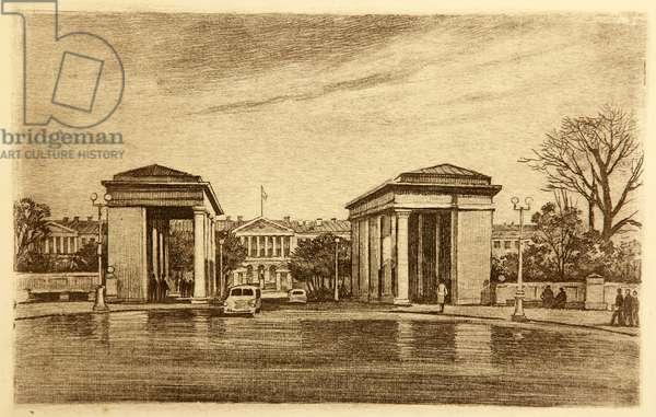 Smolny, 1947 (etching)