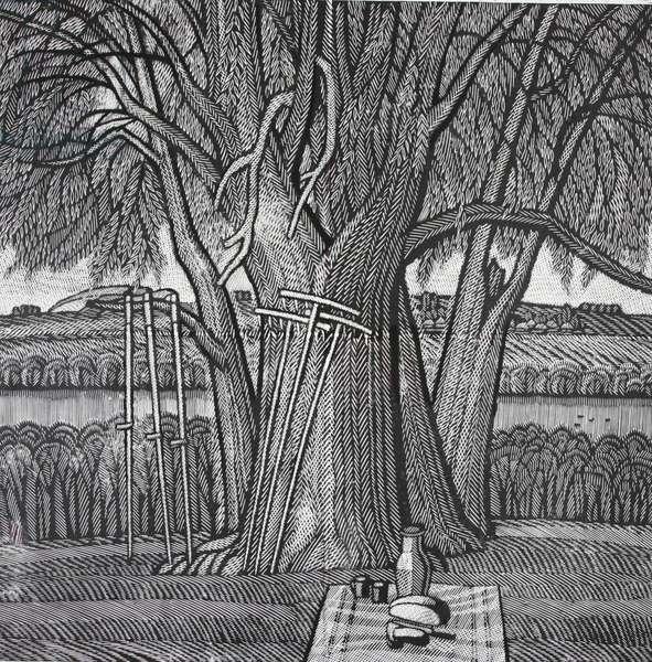 Harvest Time, 1986 (linocut)
