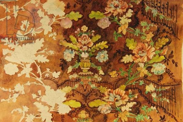 Textile Design, 1961 (tempera on paper)