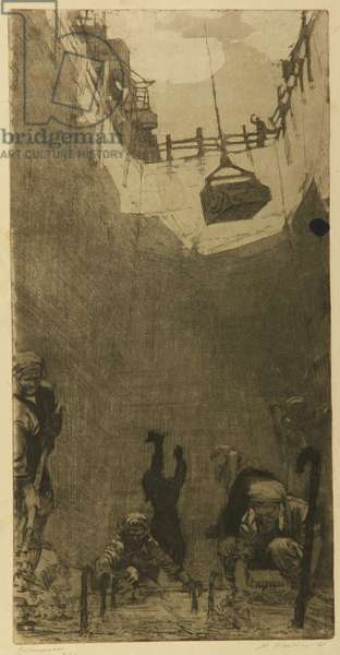 Concrete Workers, 1961 (etching)