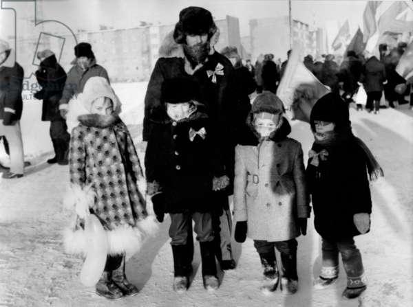 Children of Urengoi, 1977 (b/w photo)