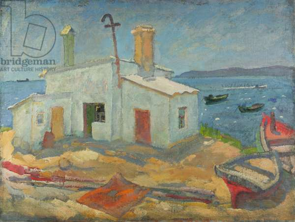 A Fisherman's House in Kerch, 1972 (oil on canvas)