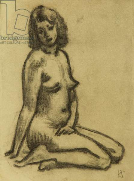 Nude, 1974 (pastel on paper)