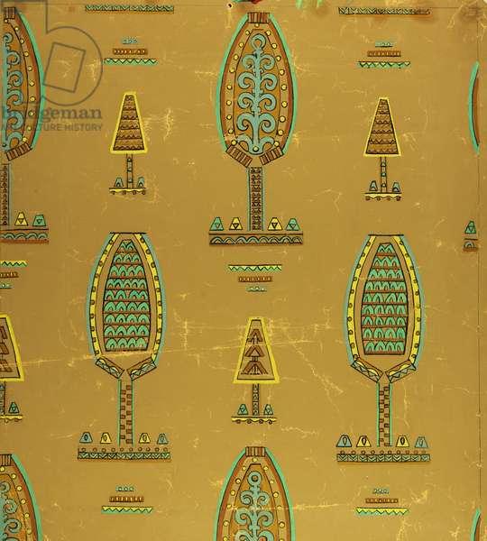 Textile Design, 1963 (tempera on paper)