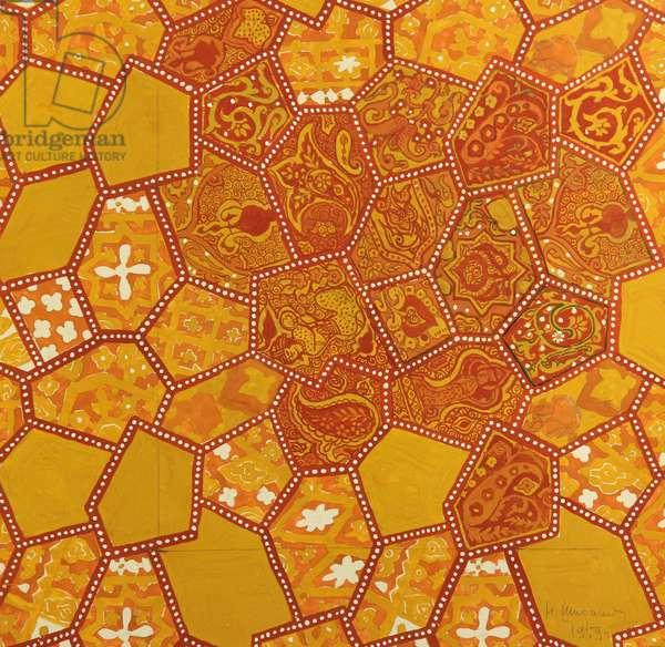 Textile Design, 1959 (gouache on paper)