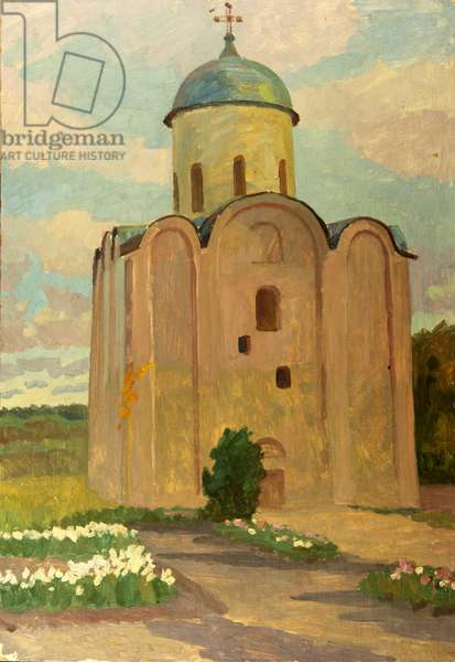 Church by the River, 1964 (oil on card)