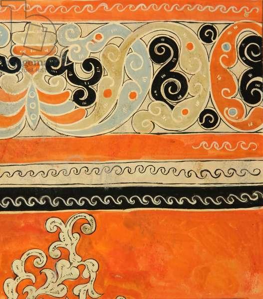 Textile Design, 1957 (tempera on paper)