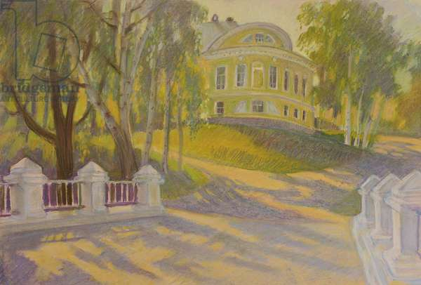 Evening in the Town of Tutaev, 2013 (pastel on paper)