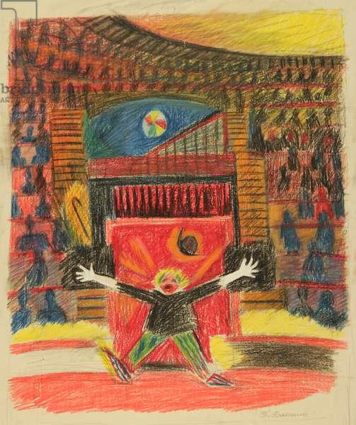 Clown, 1980 (pastel on paper)
