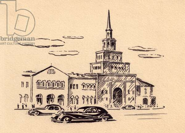 Illustration, 1948 (indian ink on paper)