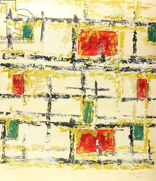 Composition, 1956 (tempera on paper)