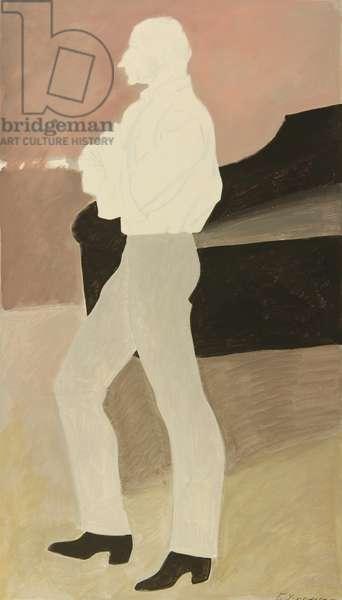 Repetiteur Sergey Koren at the Bolshoi Ballet, 1968 (tempera on paper)
