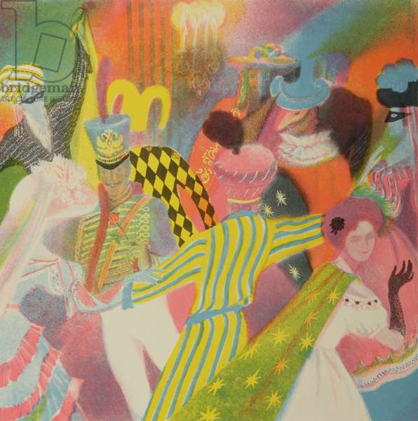 Masquerade, 1988 (colour litho)
