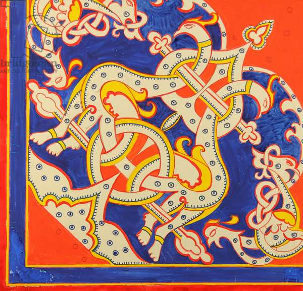 Design sketch for a scarf, 1971 (gouache on paper)