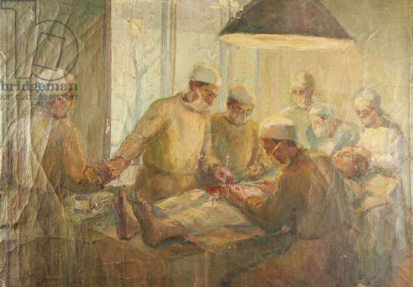 At the Operating Theatre behind the front during World War II, 1942 (oil on canvas)