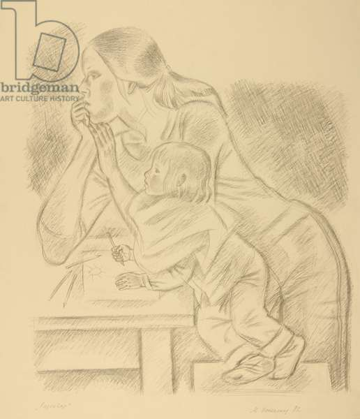 Mother and Child, 1983 (pencil on paper)