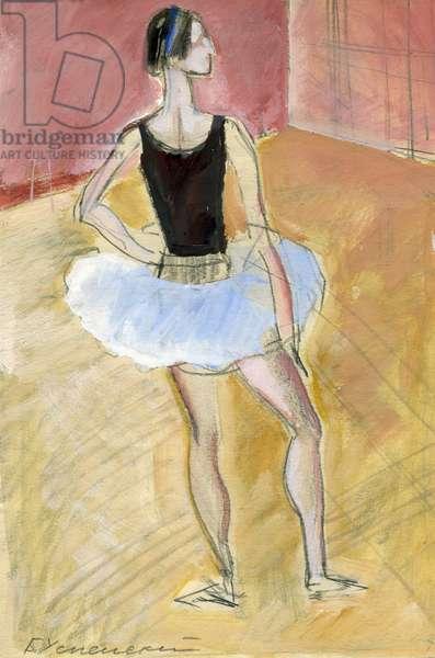 Ballerina Elena Ryabinkina, 1965 (tempera on paper)