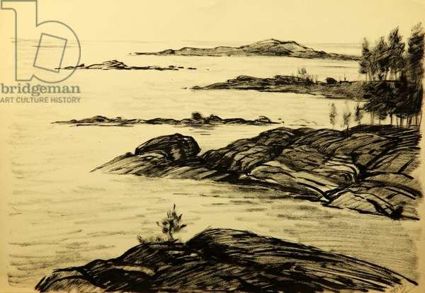 The Kii Islets, Arkhangelsk, 1955 (tempera on paper)