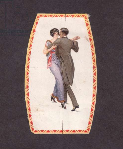Small picture card - included as a present with a box of confectionery., 1900s (colour litho)