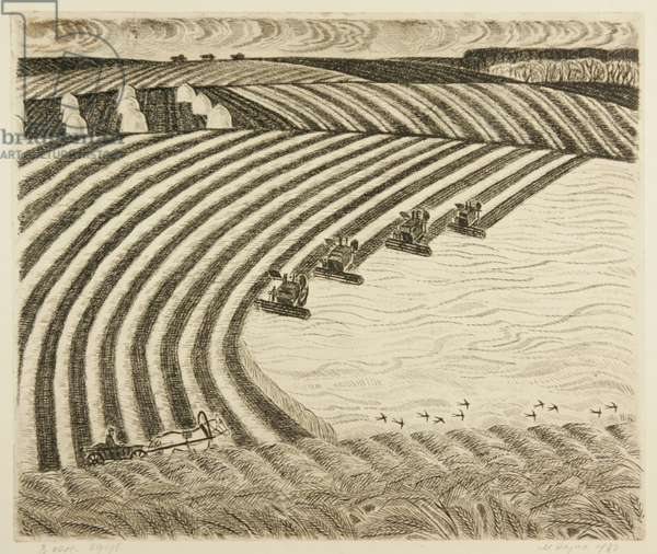 In The Field, 1980 (etching)