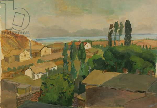 By the Black Sea in Kozy, 1936 (w/c on paper)
