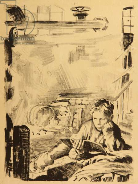 How the Steel was Tempered, 1948 (litho)