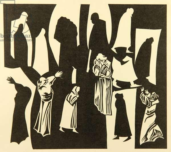 Illustration from 'Faust' by Johann Wolfgang von Goethe, 1808   ,  1981 (linocut)