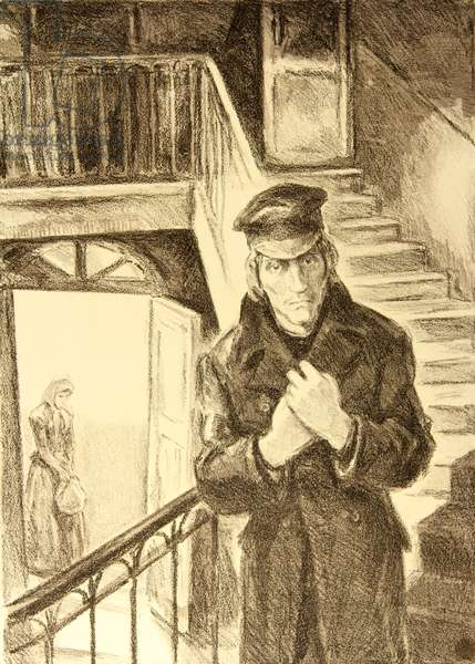 Illustration for a Fyodor Dostoyevsky story, 1975 (litho)