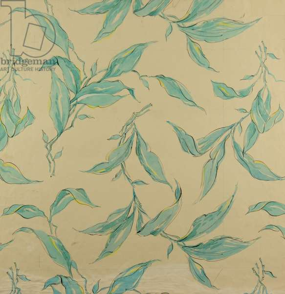Textile design, 1957 (gouache on paper)
