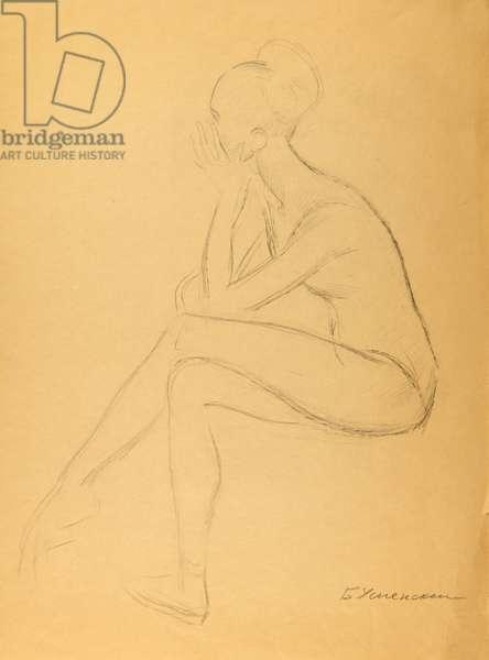Ballerina Resting, 1968 (pencil on paper)