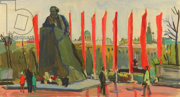 Monument to Karl Marx, 1960 (tempera on paper)