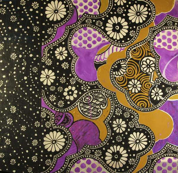 Textile Design, 1960s (tempera on pergament paper)