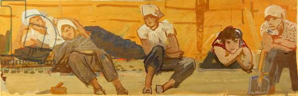 Female Workers, 1960 (tempera on card)