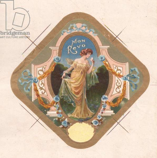 Perfume Label 'Mon Revo', 1900s (colour litho)