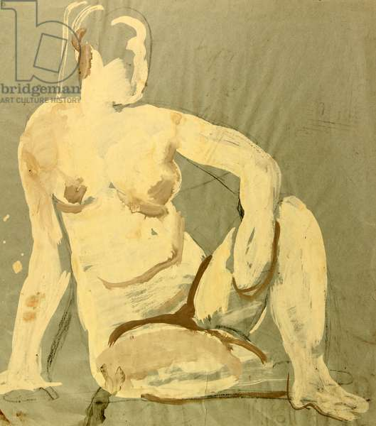 Nude, 1958 (gouache on paper)