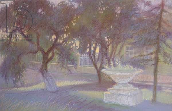 Dusk, 2014 (pastel on paper)