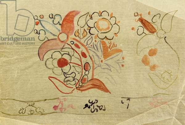 Textile Design, 1966 (tempera on paper)