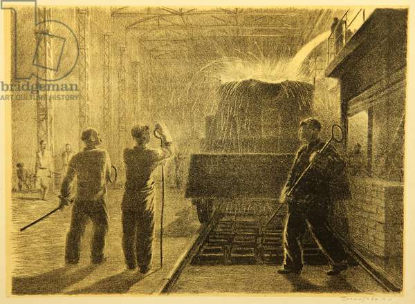 Steel Workers, 1948 (lithograph)