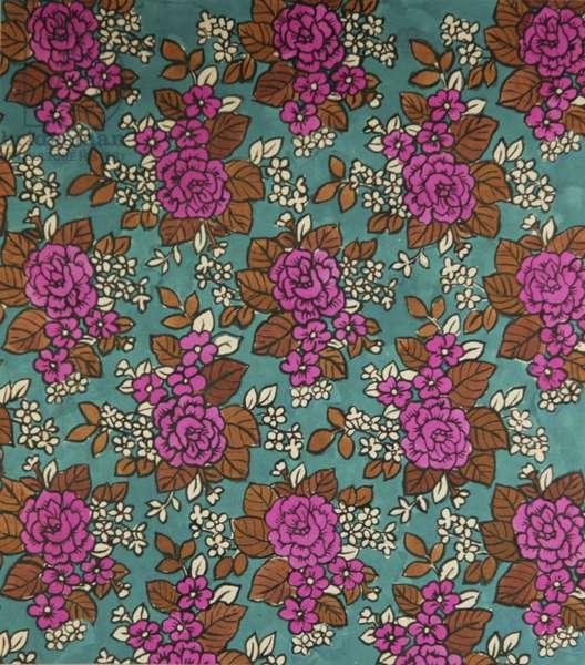 Textile design, 1969 (tempera on paper)