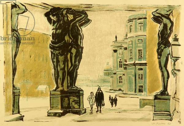 The Winter Palace in Leningrad, 1966 (litho)