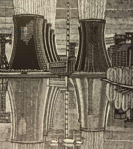 Novovoronezh Nuclear Power Plant, 1978 (linocut)