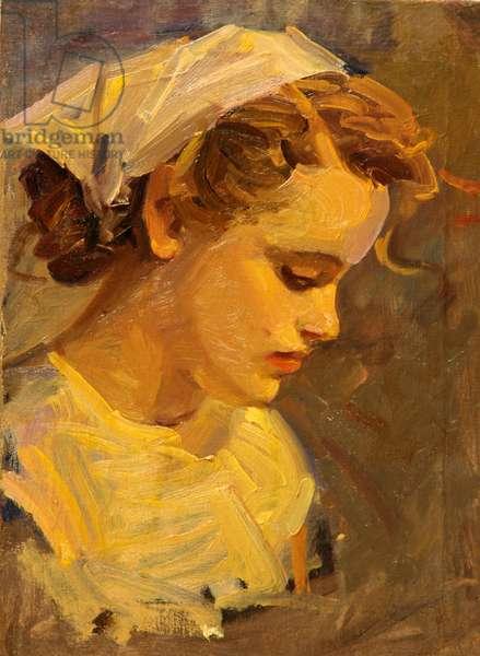 Portrait of Worker Woman, 1950s (oil on canvas)