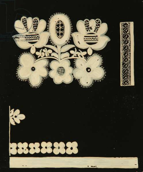 Textile Design, 1958 (tempera on paper)