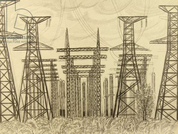 Electricity, 1960s (pencil on paper)